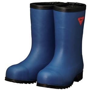 AC061-24.0 シバタ工業 防寒安全長靴 セーフティベアー白熊(ネイビー)フード無し 24.0cm