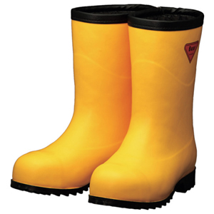 AC101-26.0 シバタ工業 防寒安全長靴 セーフティベアー白熊(イエロー)フード無し 26.0cm