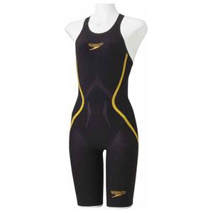 GW-SD48H03-KD-M スピード 女性用競泳水着(Fina承認)(ブラック×ゴールド・M) Speedo Fastskin LZR RACER J ウィメンズニースキン