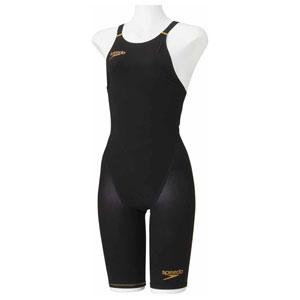 GW-SD48H06-K-L スピード 女性用競泳水着(Fina承認)(ブラック・L) Speedo Fastskin FS-PRO2 ウイメンズニースキン(2)