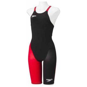 GW-SD48H06-KR-M スピード 女性用競泳水着(Fina承認)(ブラック×レッド・M) Speedo Fastskin FS-PRO2 ウイメンズニースキン(2)