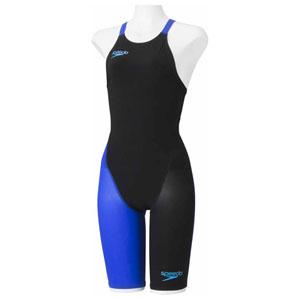 GW-SD48H06-KB-S スピード 女性用競泳水着(Fina承認)(ブラック×ブルー・S) Speedo Fastskin FS-PRO2 ウイメンズニースキン(2)