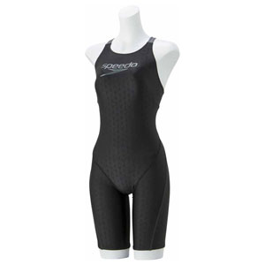 GW-SD58N52-K-S スピード 女性用練習水着(ブラック・S) Speedo Stack logo ウイメンズスパッツスーツ