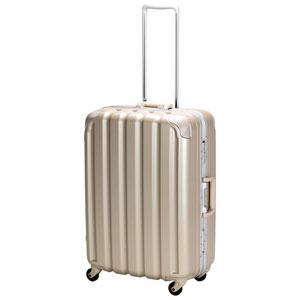 GRE1043-59 GD シフレ 【メーカー直送のみ】スーツケース ハードフレーム 63L(シボゴールド) GREEN WORKS(グリーンワークス)