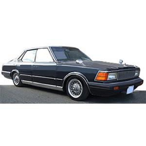 1/43 Nissan Cedric (P430) 4Door Hardtop 280E Brougham Deep Blue Metallic ※Wire-Wheel【IG1453】 ignitionモデル