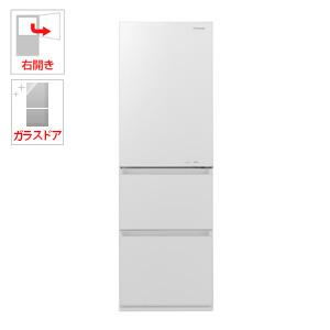 (標準設置料込)NR-C370GC-W パナソニック 365L 3ドア冷蔵庫(スノーホワイト)【右開き】 Panasonic エコナビ