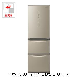 NR-C370CL-N パナソニック 365L 3ドア冷蔵庫(シルキーゴールド)【左開き】 Panasonic エコナビ