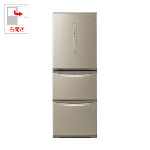 NR-C340C-N パナソニック 335L 3ドア冷蔵庫(シルキーゴールド)【右開き】 Panasonic エコナビ