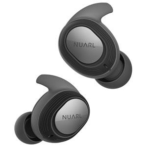 NT100-BK NUARL 完全ワイヤレス Bluetoothイヤホン(ブラック) ヌアール NT100 WATERPROOF TRUE WIRELESS STEREO EARPHONES