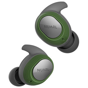 NT100-GN NUARL 完全ワイヤレス Bluetoothイヤホン(グリーン) ヌアール NT100 WATERPROOF TRUE WIRELESS STEREO EARPHONES