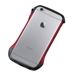 DCB-IP6A6CARD ディーフ iPhone 6s/6用ハイブリッド バンパー(カーボン&レッド) Deff CLEAVE Hybrid Bumper for iPhone6