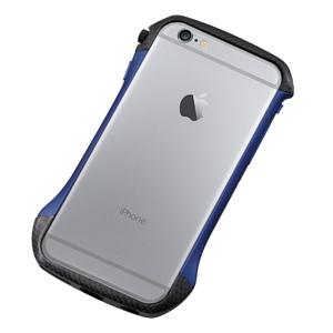 DCB-IP6A6CABU ディーフ iPhone 6s/6用ハイブリッド バンパー(カーボン&ブルー) Deff CLEAVE Hybrid Bumper for iPhone6