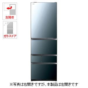 (標準設置料込)GR-R470GWL-XK 東芝 465L 5ドア冷蔵庫(クリアミラー)【左開き】 TOSHIBA