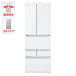 (標準設置料込)GR-R510FZ-UW 東芝 508L 6ドア冷蔵庫(クリアグレインホワイト) TOSHIBA