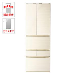 (標準設置料込)GR-R460FZ-ZC 東芝 461L 6ドア冷蔵庫(ラピスアイボリー) TOSHIBA