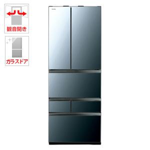 (標準設置料込)GR-R600FZ-XK 東芝 601L 6ドア冷蔵庫(クリアミラー) TOSHIBA