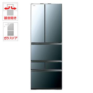 (標準設置料込)GR-R460FZ-XK 東芝 461L 6ドア冷蔵庫(クリアミラー) TOSHIBA