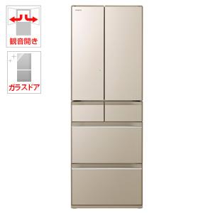(標準設置料込)R-HW52K-XN 日立 520L 6ドア冷蔵庫(プレーンシャンパン) HITACHI HWシリーズ