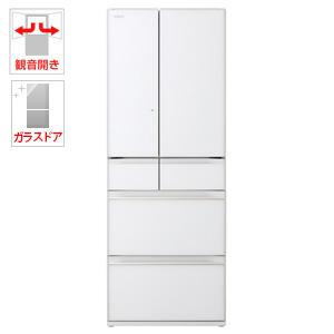 (標準設置料込)R-KW57K-XW 日立 567L 6ドア冷蔵庫(クリスタルホワイト) HITACHI KWシリーズ