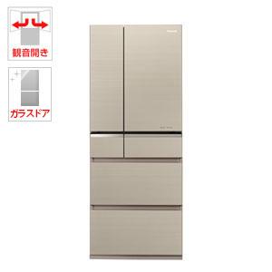 (標準設置料込)NR-F475XPV-N パナソニック 470L 6ドア冷蔵庫(マチュアゴールド) Panasonic