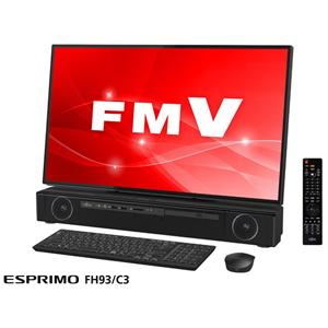 FMVF93C3BZ 富士通 27型 デスクトップパソコン【Joshin オリジナル】FMV ESPRIMO FH93/C3 ブラック