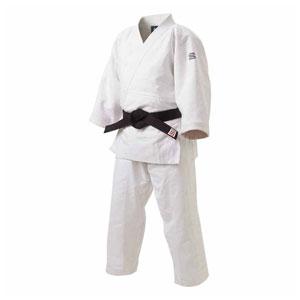HYK-JZ4Y 九櫻 特製二重織柔道衣 上下セット(ホワイト・4Y) 「先鋒」