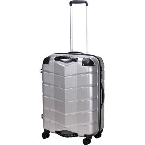 TRI2066-58 HLSV シフレ 【メーカー直送のみ】グリップ付きスーツケース ファスナータイプ 65L(ヘアラインシルバー) GripMaster(グリップマスター)