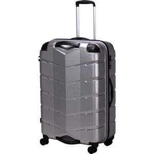 TRI2066-67 HLSV シフレ グリップ付きスーツケース ファスナータイプ 83L(ヘアラインシルバー) GripMaster(グリップマスター)