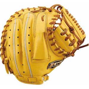 Z-BRCB33912-5436-LH ゼット 軟式野球用キャッチャーミット(トゥルーイエロー/オークブラウン・右投用) ZETT ウイニングロード