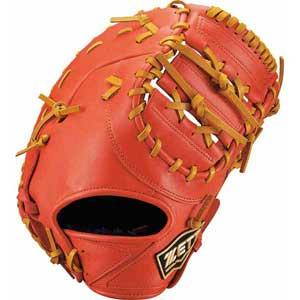 Z-BJFB71913-5836-LH ゼット ジュニア軟式野球用ファーストミット(ディープオレンジ/オークブラウン・右投用) ZETT ゼロワンステージ