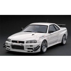 1/43 Nissan Skyline GT-R Mine's (R34) White【IG1811】 ignitionモデル