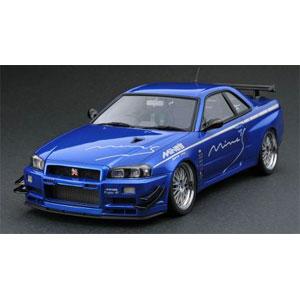 1/43 Nissan Skyline GT-R Mine's (R34) Bayside Blue【IG1814】 ignitionモデル