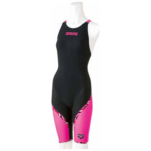 DS-ARN6002W-BKPP-L アリーナ 女性用競泳水着(Fina承認)(BKPP・L) arena AQUAFORCE LIGHTNING ハーフスパッツフラットクロスバック フレックスタイプ