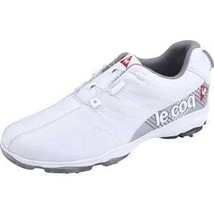 QQ2NJA01-WH00-270 ルコック ソフトスパイク・ゴルフシューズ(ホワイト・27.0cm) le coq sportif GOLF ヒールダイヤル式ゴルフシューズ