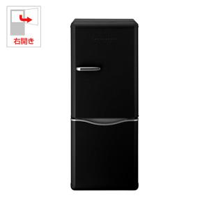 (標準設置料込)DR-C15AB DAEWOO 150L 2ドア冷蔵庫(ブラック)【右開き】 ダイウ