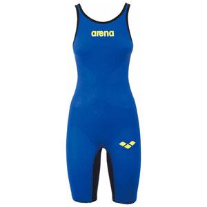 DS-FAR6504W-EBTB-M アリーナ 女性用競泳水着(Fina承認)(Eブルー×Tブルー・M) arena POWERSKIN CARBON-AIR ハーフスパッツオープンバック