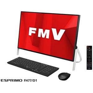 FMVF77D1B 富士通 23.8型 デスクトップパソコンFMV ESPRIMO FH77/D1 ブラック (Core i7/メモリ 8GB/HDD 1TB/Office H&B 2019)