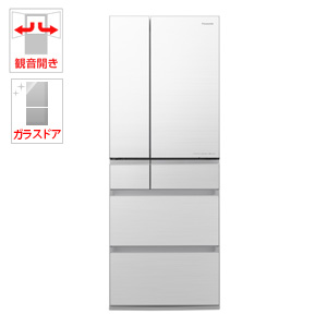 (標準設置料込)NR-F605WPX-W パナソニック 600L 6ドア冷蔵庫(フロスティロイヤルホワイト) Panasonic
