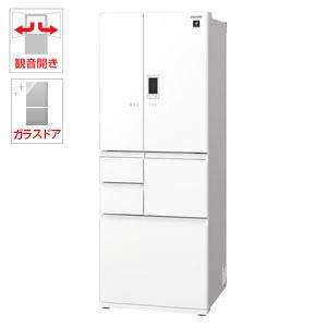 (標準設置料込)SJ-GA55E-W シャープ 551L 6ドア冷蔵庫(ピュアホワイト) SHARP GAシリーズ
