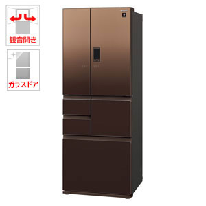 (標準設置料込)SJ-GA50E-T シャープ 502L 6ドア冷蔵庫(エレガントブラウン) SHARP GAシリーズ