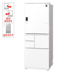 SJ-WA50E-W シャープ 502L 5ドア冷蔵庫(ピュアホワイト) SHARP プラズマクラスター冷蔵庫 どっちもドア