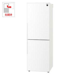 SJ-PD31E-W シャープ 310L 2ドア冷蔵庫(ホワイト系)【右開き】 SHARP プラズマクラスター冷蔵庫