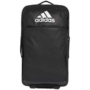 AJ-EWD32-CY6056-NS アディダス キャリーバッグ(ブラック/ブラック/ホワイト・容量:54L) adidas Travelトローリー M