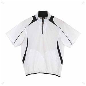DS-STD465-WHT-L デサント 野球・ソフトボール用コート(WHT・サイズ:L) DESCENTE 半袖プルオーバーコート プロモデル