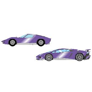 1/43 Lamborghini Superveloce set メタリックパープル/シルバー【EMCOF012D】 メイクアップ
