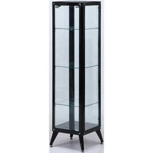 98842 不二貿易 ガラスコレクションケース4段(ブラック) TMG-G78