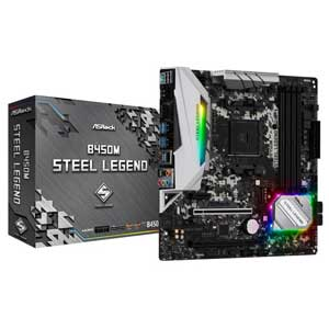 B450M STEEL LEGEND ASRock MicroATX対応マザーボードB450M STEEL LEGEND