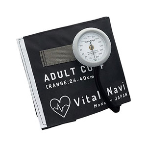 LFセイジンヨウ-ブラツク アズワン バイタルナビ血圧計 ラテックスフリー (ブラック LF成人用)