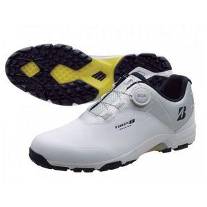 TOUR B SHG950 WS26.0 ブリヂストンゴルフ メンズ・スパイクレス・ゴルフシューズ(ホワイト/シルバーグレー・26.0cm) TOUR B ゼロ・スパイク・バイター ライト