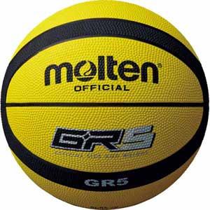 BGR5-YK モルテン バスケットボール 直営ストア 新発売 5号球 ゴム Molten GR5 イエロー×ブラック